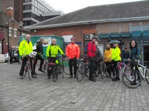 Eleven Happy Cyclists - Bromley  South