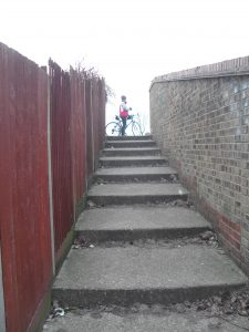 Steps on a Cyclepath!!