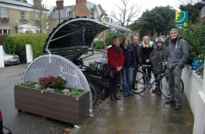 Bike Hangar in Tudor Rd Anerley