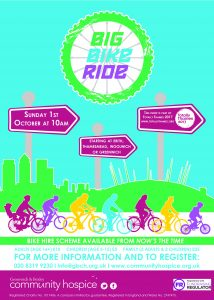 Greenwich & Bexley Community Hospice - Big Bike Ride @ Various Start Points - see below